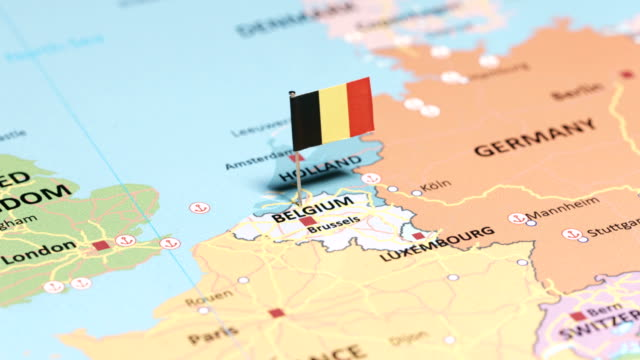 belgium with national flag - border stock videos & royalty-free footage
