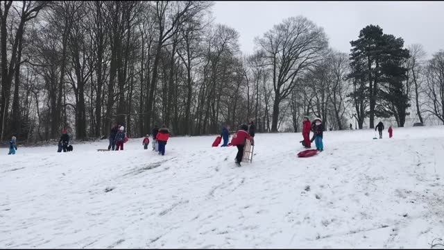 belgium's capital brussels has faced freezing cold with heavy snowfall that has affected the daily life negatively in the past days. footage on... - traffic jam点の映像素材/bロール