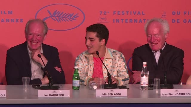 belgium's dardenne brothers already cannes legends with two palme d'or prizes under their belt added to their tally on saturday with the best... - 72nd international cannes film festival stock videos and b-roll footage