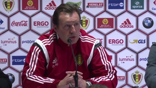 Belgiums football team coach Marc Wilmots gave a press conference on Thursday ahead of a friendly match against Italy