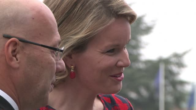 belgium's queen mathilde has been visiting the louvrelens museum which is hosting a special exhibition on flemish baroque painter peter paul rubens... - lens pas de calais stock videos & royalty-free footage
