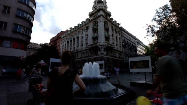 belgrade city square (full shot) - serbia stock videos & royalty-free footage