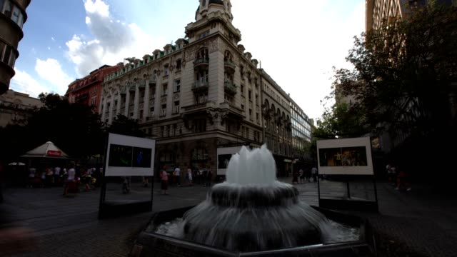 belgrade city square (wide shot) - serbia stock videos & royalty-free footage