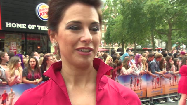 interview belinda stewartwilson on her role the film the franchise coming to an end at 'the inbetweeners 2' premiere at vue west end on august 05... - franchising stock-videos und b-roll-filmmaterial