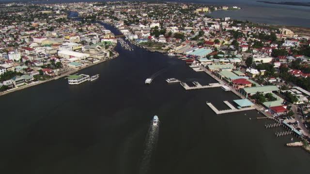 Belize: Aerial view of Belize City