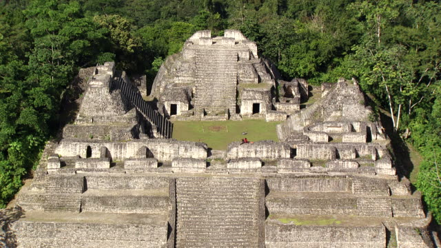 belize: caracol maya temple - old ruin stock videos & royalty-free footage