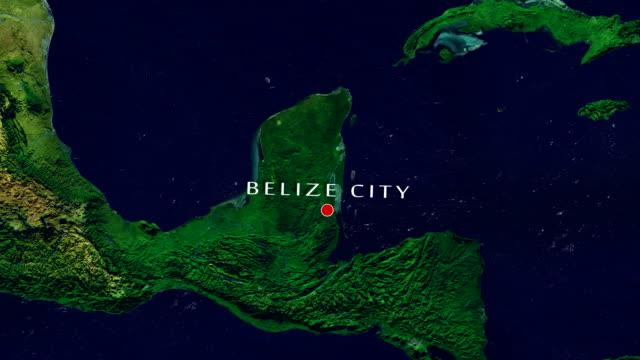 Belize City 4K zooma In