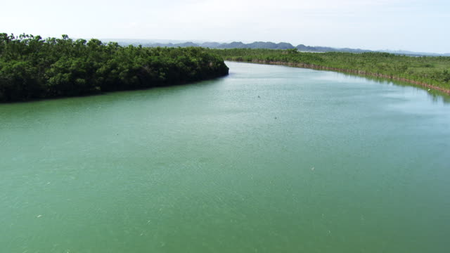 Belize: River between Southern lagoon and Caribbean sea