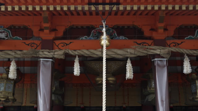 ms bell at yasaka shrine, gion, kyoto, japan - shrine stock videos & royalty-free footage