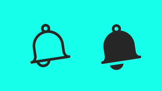 bell icons - vector animate - bell stock videos & royalty-free footage
