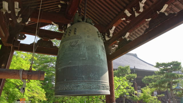ds bell in buddhist temple - shrine stock videos & royalty-free footage