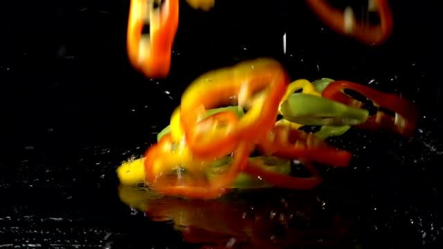Paprika segmenten spatten