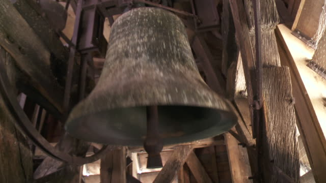 CU bell ringing in church tower / Latour, Brussel, Belgium