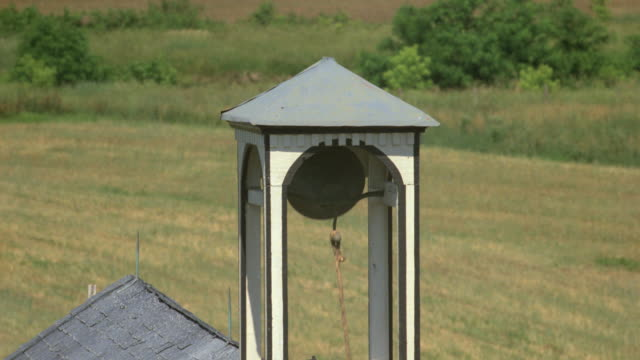 a bell rings in a country schoolhouse. - schoolhouse stock videos & royalty-free footage