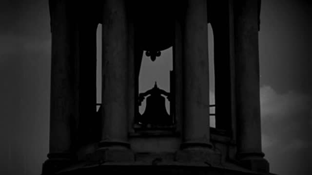 a bell rings in a tower surrounded by stone pillars. - 1928 stock videos & royalty-free footage