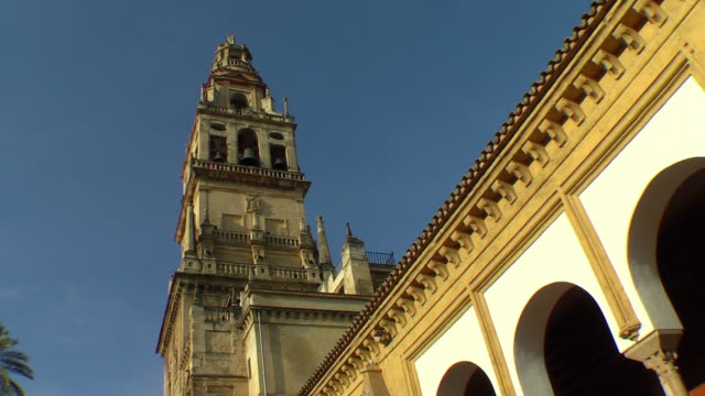 bell tower in spain - bell tower tower stock videos and b-roll footage