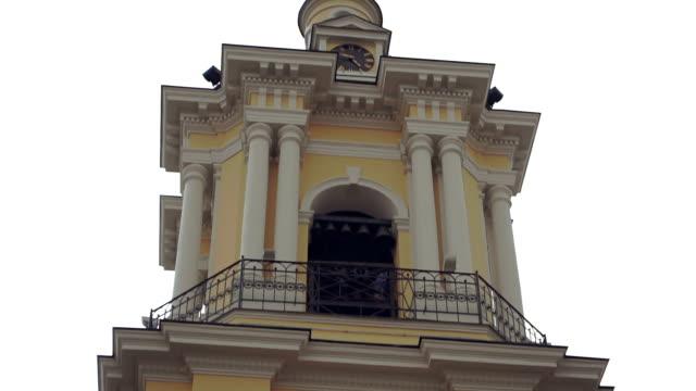 Klocktornet i en kyrka