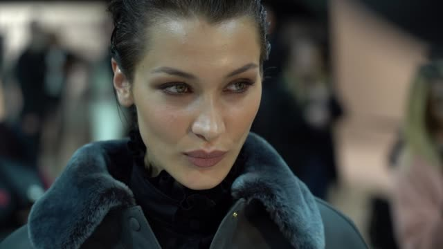 bella hadid and models getting ready backstage for the alberta ferretti ready to wear fall winter 2020 fashion show in milan wednesday 19th february... - arts culture and entertainment stock videos & royalty-free footage