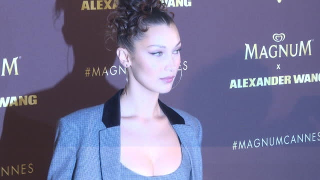 bella hadid at magnum vip party arrivals the 71st annual cannes film festival at magnum beach on may 10 2018 in cannes france - bella hadid stock videos & royalty-free footage