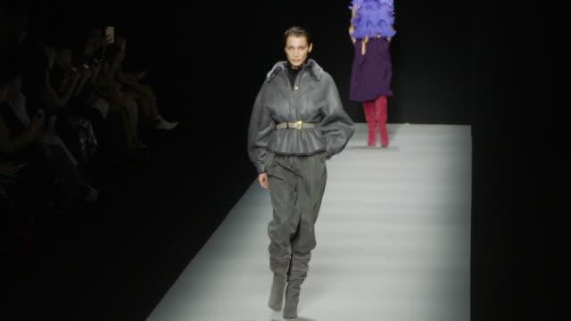 bella hadid at milan fashion week women's fall / winter 2020 - 2021 - alberta ferretti on february 19, 2020 in milan, italy. - milan fashion week stock videos & royalty-free footage