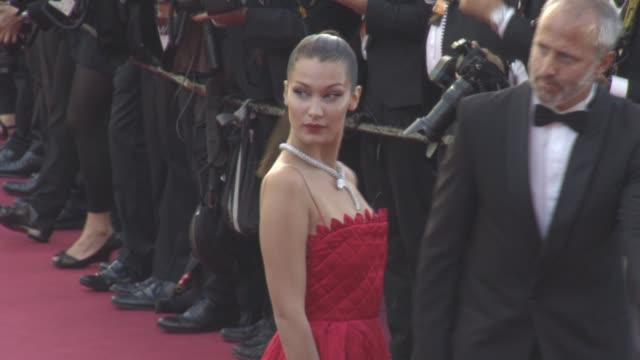 Bella Hadid at 'Okja' Red Carpet at Palais des Festivals on May 19 2017 in Cannes France