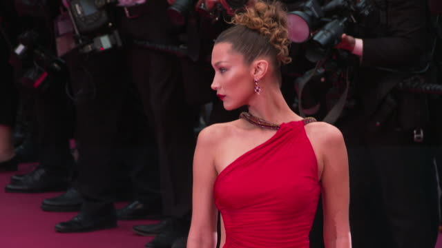 bella hadid at 'pain glory ' red carpet arrivals the 72nd cannes film festival on may 17 2019 in cannes france - bella hadid stock videos & royalty-free footage
