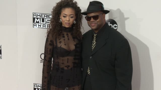 bella harris and jimmy jam at 2016 american music awards at microsoft theater on november 20 2016 in los angeles california - american music awards stock videos and b-roll footage