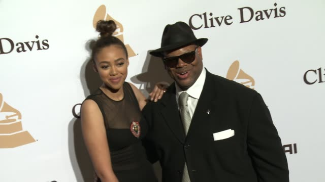 stockvideo's en b-roll-footage met bella harris and jimmy jam at the 2016 pregrammy gala and salute to industry icons honoring irving azoff at the beverly hilton hotel on february 14... - irving azoff