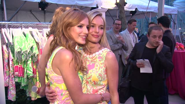 Bella Thorne and Kate Bosworth at the Lilly Pulitzer For Target Event at Bryant Park Grill on April 15 2015 in New York City