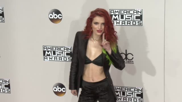 bella thorne at 2016 american music awards at microsoft theater on november 20 2016 in los angeles california - american music awards stock videos and b-roll footage