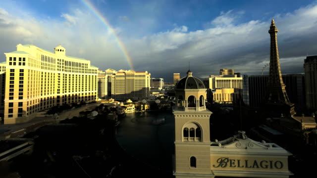 bellagio resort sin city casino gambling hotels nevada - las vegas replica eiffel tower stock videos & royalty-free footage