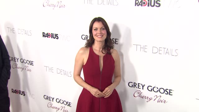 bellamy young at grey goose vodka hosts 'the details' premiere in hollywood 10/29/12 - grey goose vodka stock videos & royalty-free footage