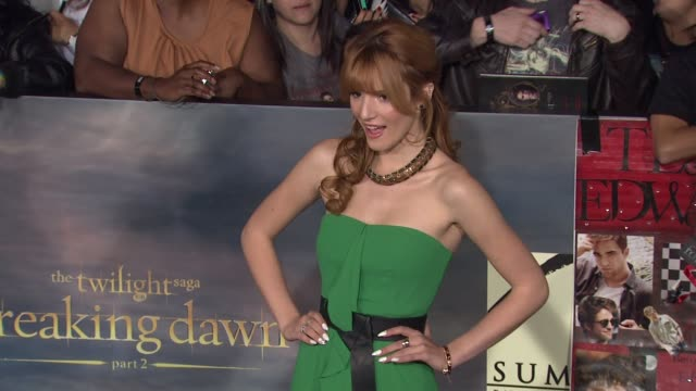 breaking dawn part two los angeles premiere on 11/12/12 in los angeles ca - twilight stock videos & royalty-free footage
