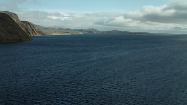 bellot strait with somerset island coast - northwest passage stock videos and b-roll footage