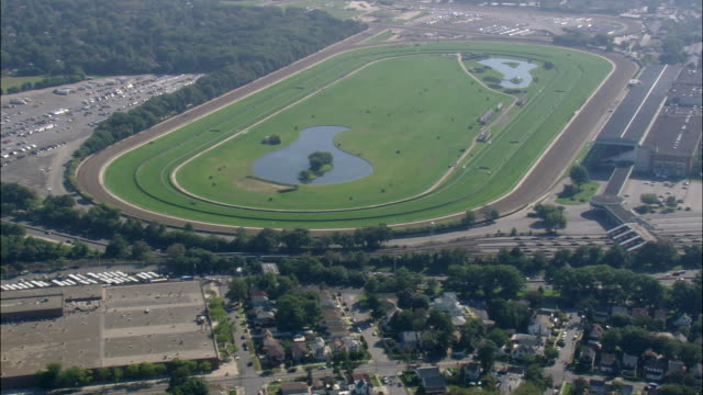 belmont park racecourse - horseracing track stock videos and b-roll footage