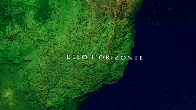 belo horizonte 4k zoom in - minas gerais stock videos and b-roll footage