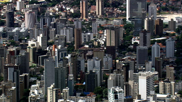 belo horizonte  - aerial view - minas gerais, belo horizonte, brazil - horizonte stock videos & royalty-free footage
