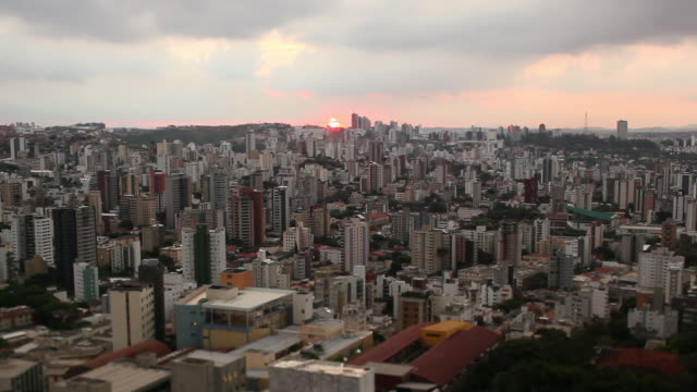 ws belo horizonte city at sunset time / belo horizonte, minas gerais, brazil - belo horizonte stock videos and b-roll footage