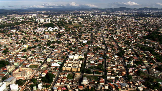 belo horizonte from the north  - aerial view - minas gerais, brazil - belo horizonte stock videos and b-roll footage