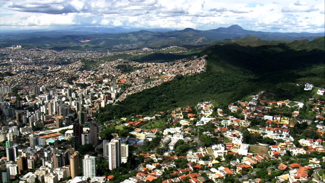 belo horizonte in wide shots  - aerial view - minas gerais, belo horizonte, brazil - minas gerais stock videos and b-roll footage