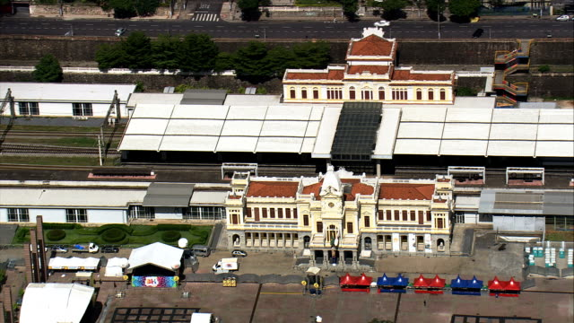 belo horizonte railway station  - aerial view - minas gerais, belo horizonte, brazil - belo horizonte stock videos and b-roll footage
