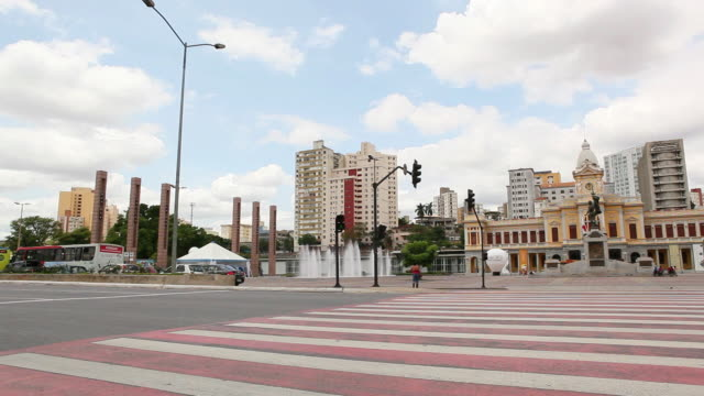 ws pan belo horizonte streets praca da estacao square pan / belo horizonte, minas gerais, brazil - horizonte stock videos & royalty-free footage