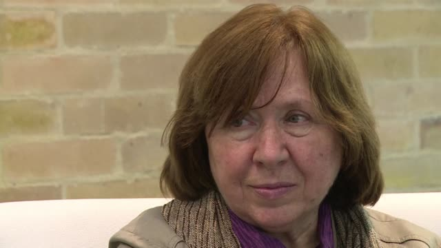 belorussian writer and journalist svetlana alexievich who won the 2015 nobel prize in literature for her lifes work on war and repression in her... - nobel prize in literature stock videos & royalty-free footage