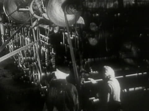 working conditions at out of date factory – workers at machine tools – women sorting rags - poland stock videos & royalty-free footage