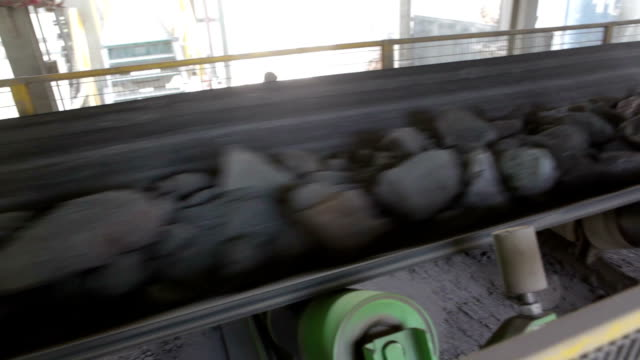 belt conveyor - metal ore stock videos & royalty-free footage