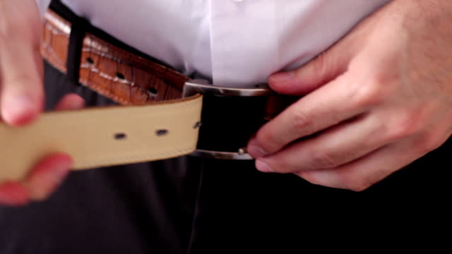 belt - trousers stock videos & royalty-free footage