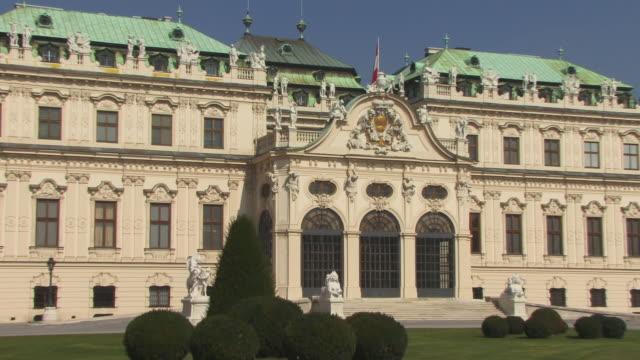 zo, ms, belvedere palace, vienna, austria - 17th century style stock videos & royalty-free footage