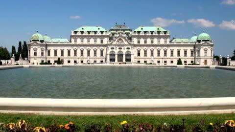 vidéos et rushes de palais du belvédère, vienne - palais du belvédère vienne