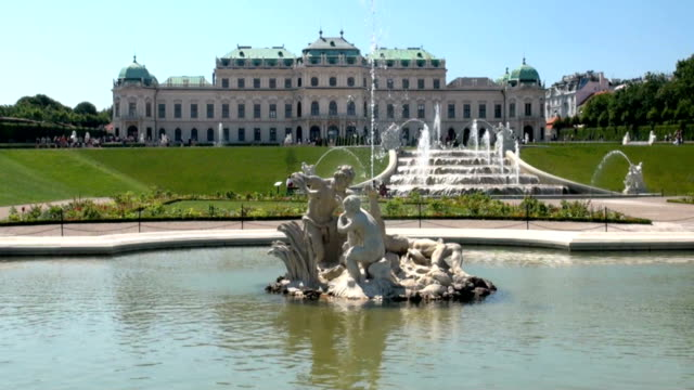belvedere palace vienna - vienna austria stock videos & royalty-free footage