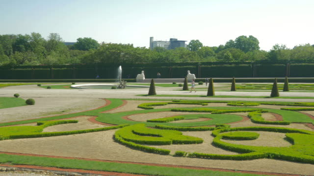 Belvedere Palace.Gardens Pan L to R.